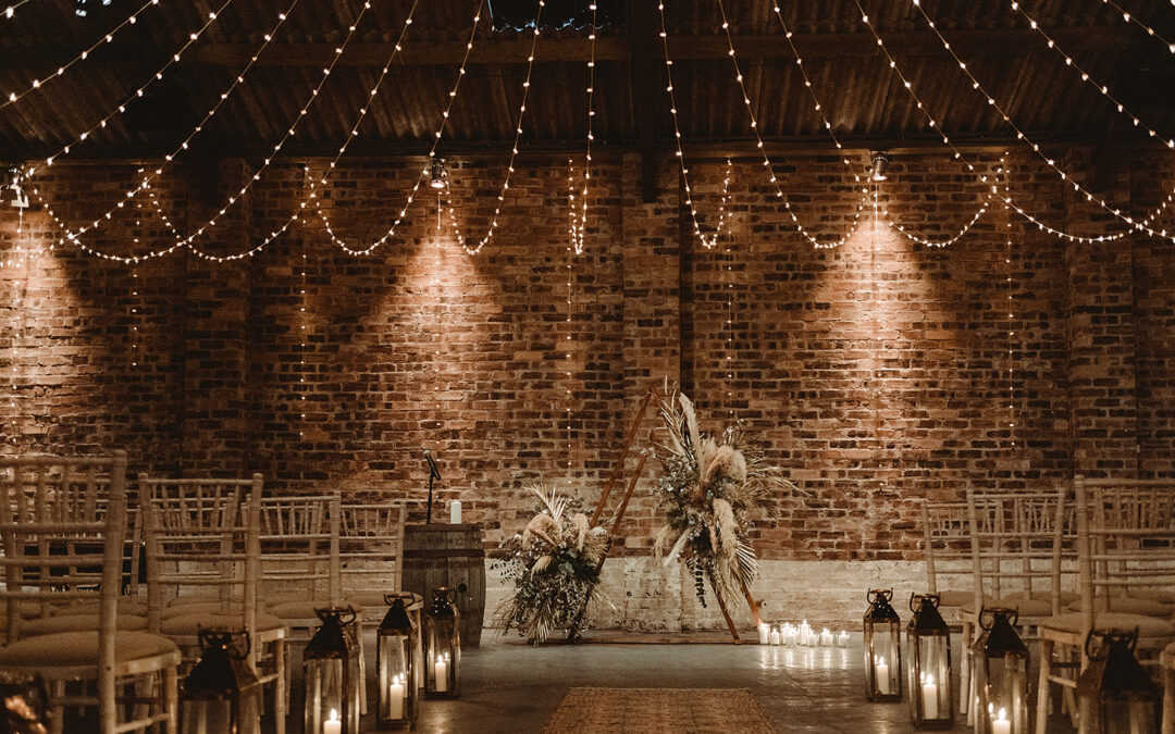 Kinkell Byre wedding for Alexis + Dougie: Industrial Barn