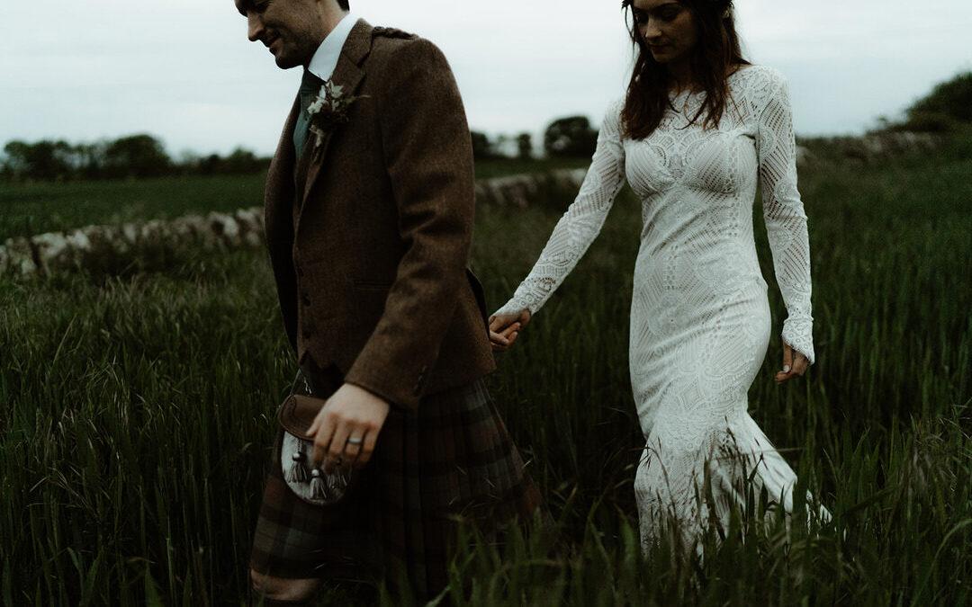 NIC + DANNY – BOHO BARN WEDDING AT COWSHED, CRAIL