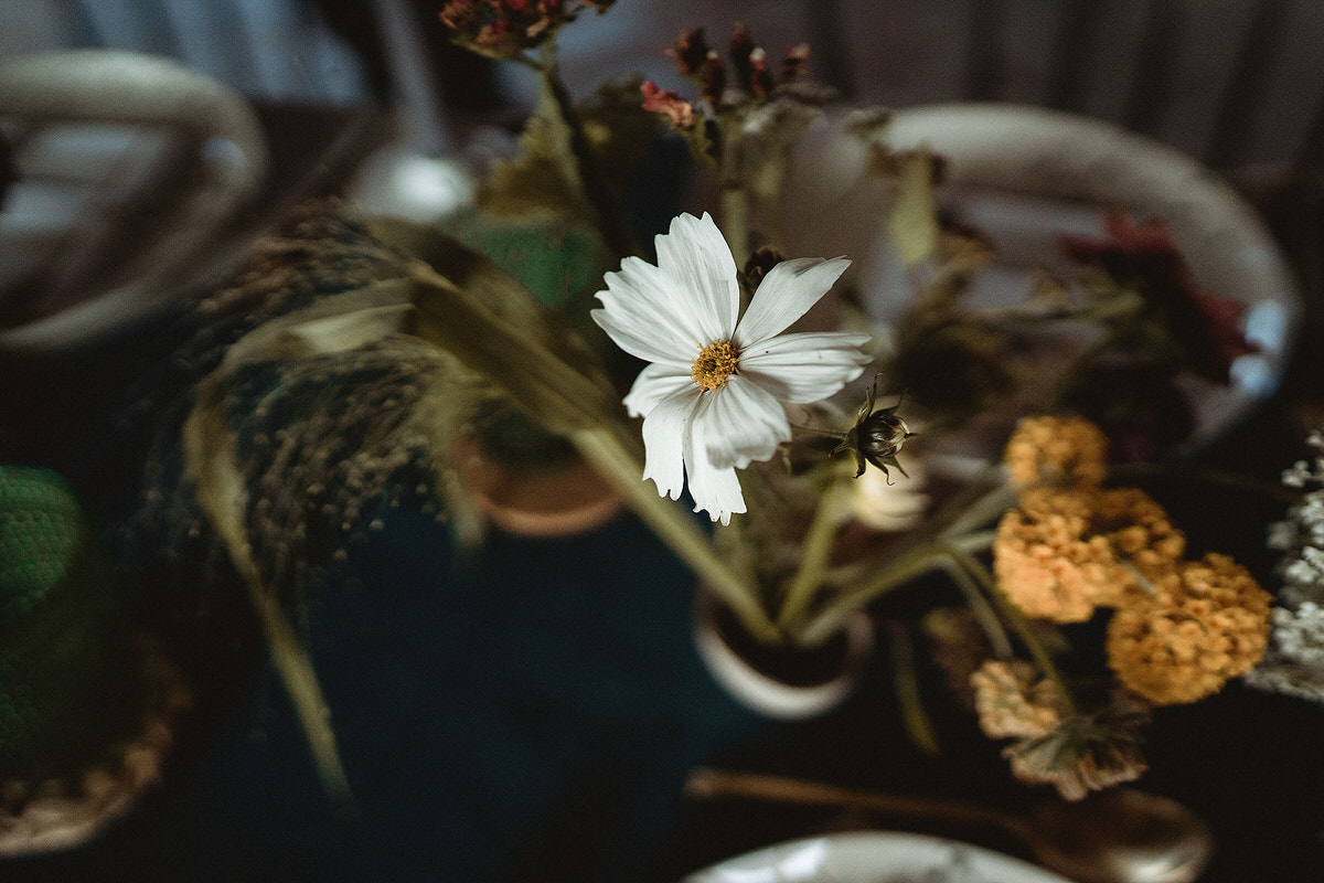 Bursts of colourful flowers for wedding table decoration