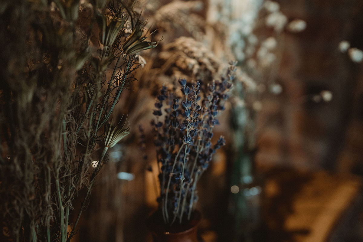 Dried flowers in vases wedding decorative styling details Small Wedding Scotland Inspo