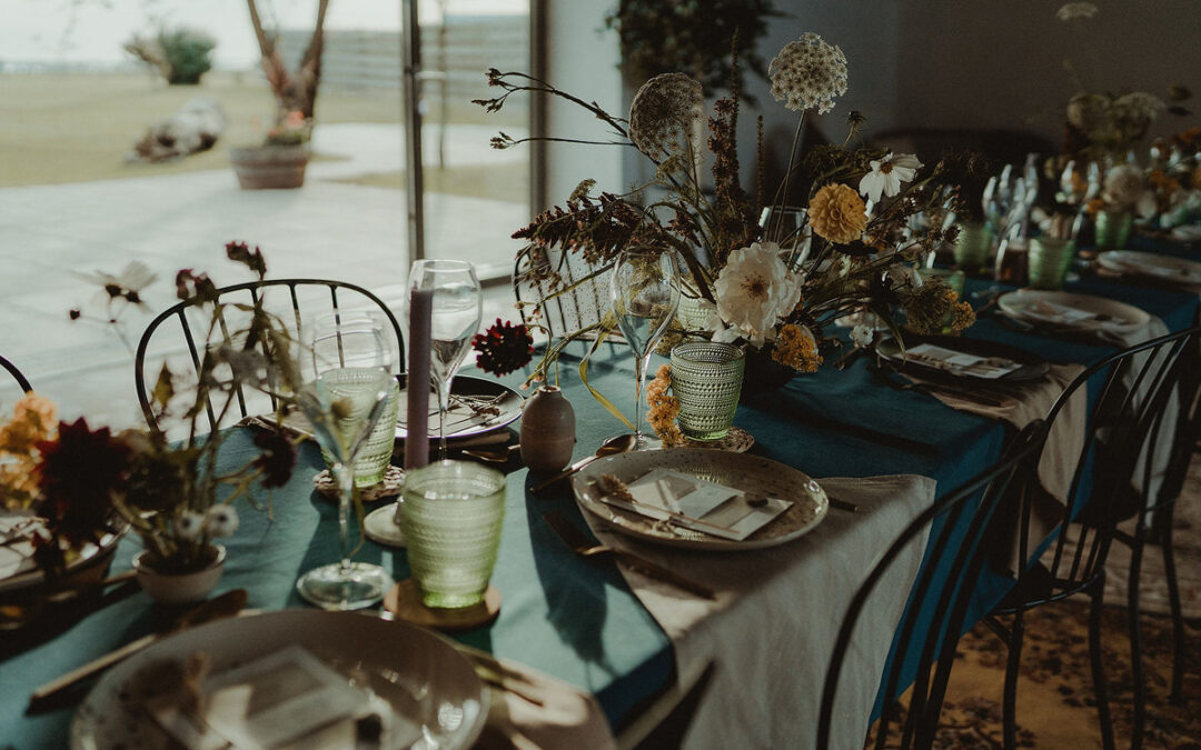 Warm Intimate Wedding Styling at The Cow Shed Crail – Small Wedding Scotland Inspiration