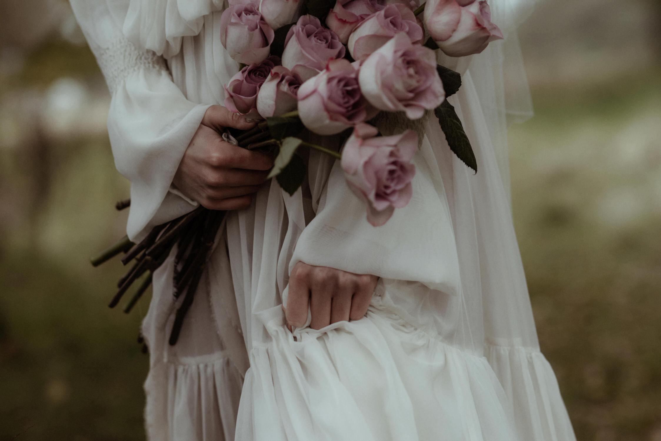 Pink rose wild bouquet