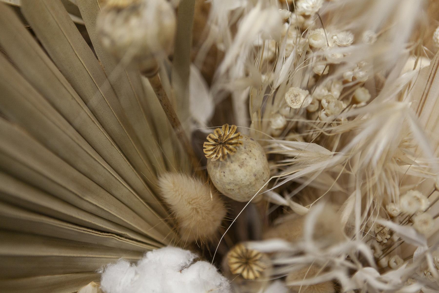 Dried flower installation