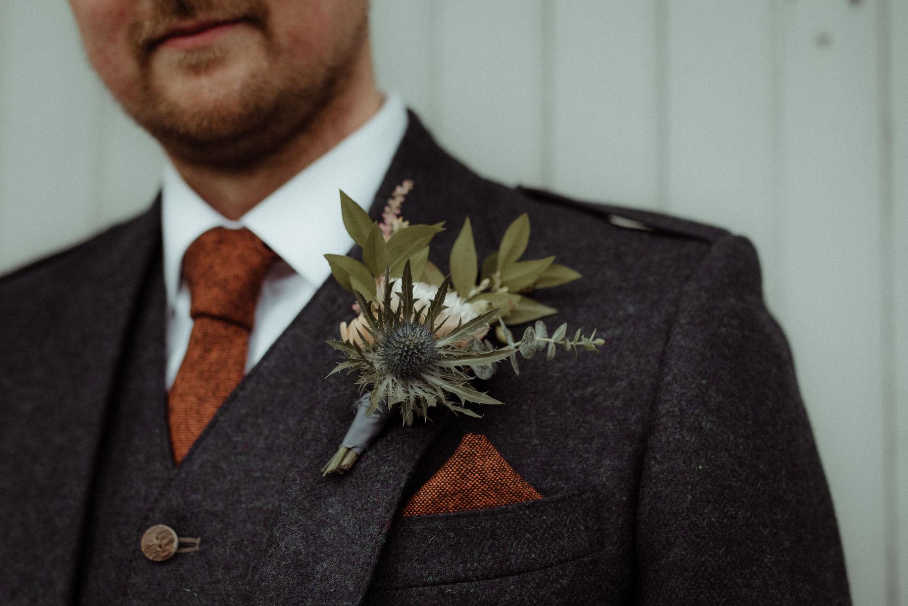 Autumnal Scottish buttonhole