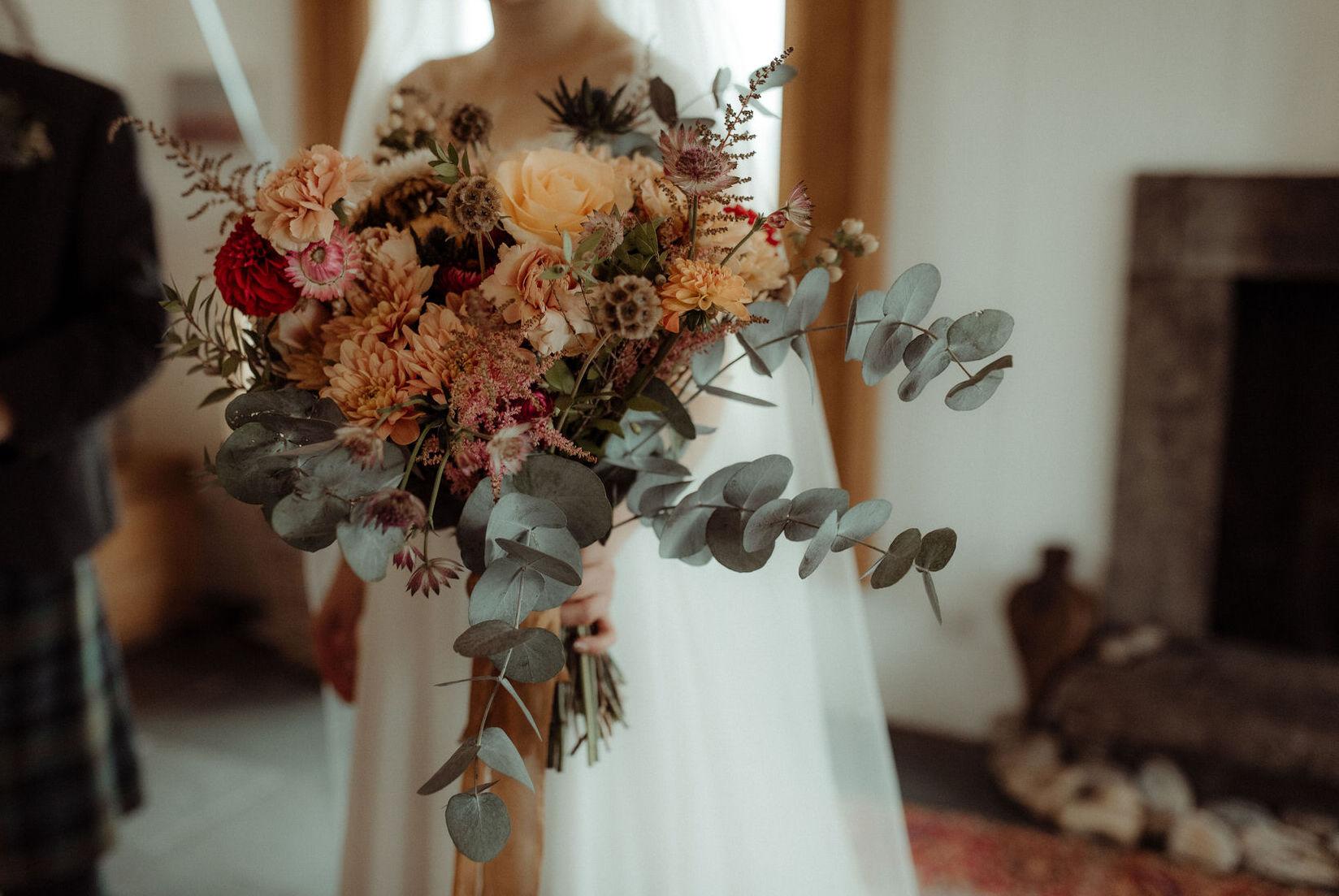 Autumnal romantic flowers