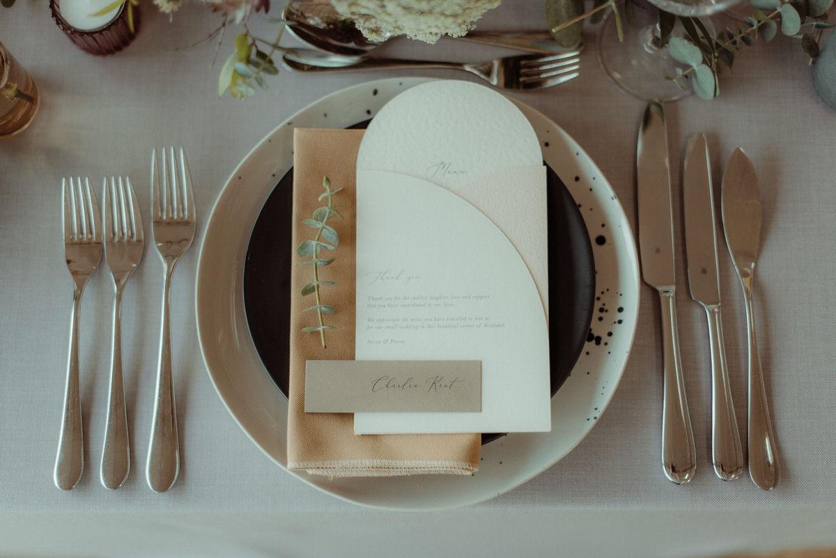 unique wedding place settings